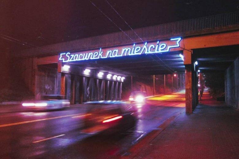 "Neon ""Szacunek na mieście"""