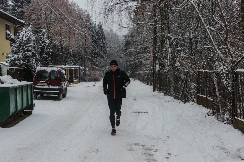 Tomasz Lis podczas treningu