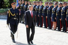 Marszałek Sejmu podczas uroczystości ślubowania funkcjonariuszy Straży Marszałkowskiej.