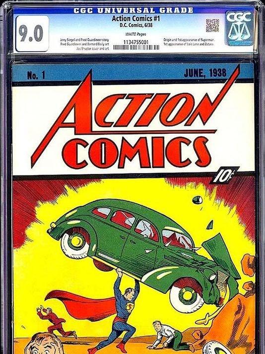 """Egzemplarz """"Action Comics"""" no.1 sprzedany na uaukcji eBay 24/08/2014"""