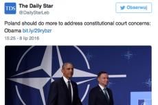 Krytyczne słowa prezydenta Obamy pod adresem pisowskich władz poszły w świat.