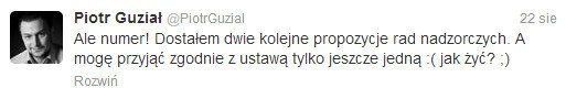 Poczucie humoru w stylu Piotra Guziała. Burmistrz pozdrawia bezrobotnych