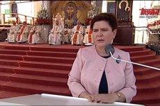 """Beata Szydło na Pielgrzymce Rodziny Radia Maryja zapewniała, że Polska """"jest oazą wolności w świecie""""."""