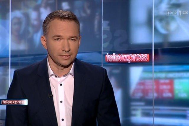 """Rafał Patyra zastąpił dziś Macieja Orłosia w roli prowadzącego """"Teleexpress"""""""