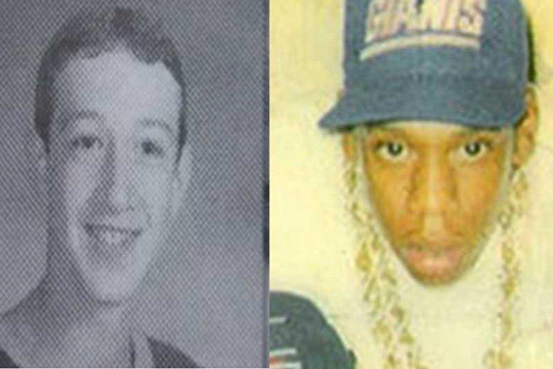 Twórca Facebooka Mark Zuckerberg i raper Jay-Z, który jest jedną z najbardziej wpływowych osób w branży muzycznej.