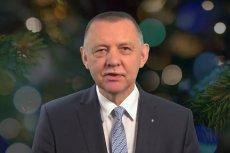 Szef NIK Marian Banaś złożył życzenia na święta i Nowy Rok.