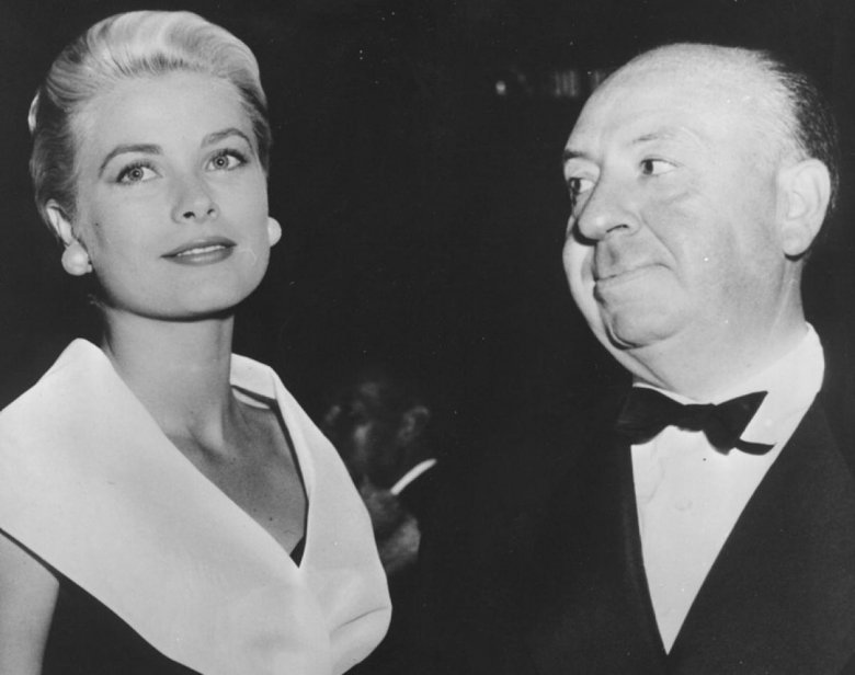 Grace Kelly i Alfred Hitchcock, 1954 r.