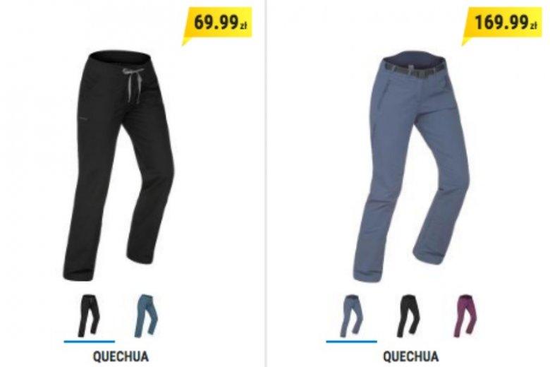 Spodnie na wyjście w góry muszą być wykonane z odpowiedniego materiału