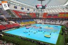Mistrzostwa Europy w Piłce Nożnej 2012 zorganizowały Polska i Ukraina. Na zdjęciu otwarcie EURO 2012 na Stadionie Narodowym w Warszawie przed meczem Polska-Grecja