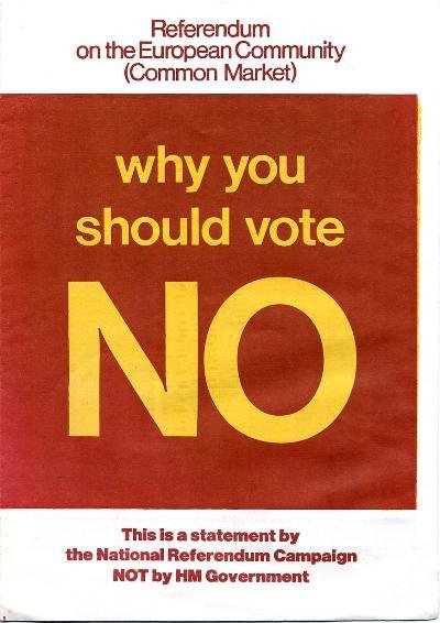 Ulotka dot. referendum w 1975
