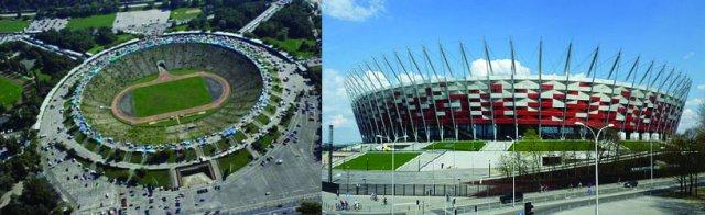 Porównanie Stadionu Dziesięciolecia i Stadionu Narodowego. To najlepszy przykład jak zmieniła się Polska dzięki EURO 2012.