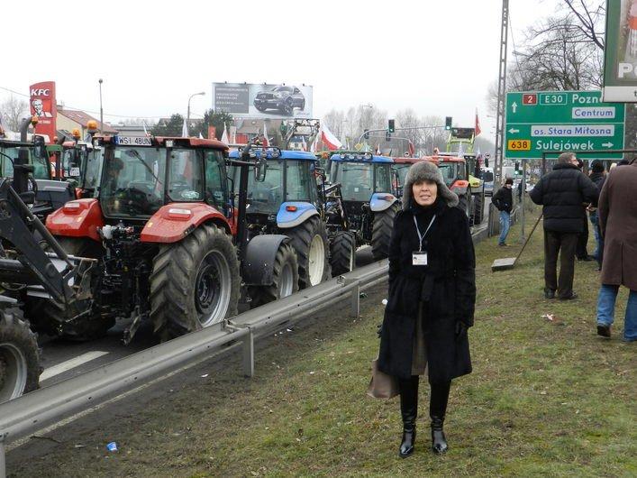 Balli Marzec na demonstracji rolników
