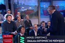 Andrzej Zybertowicz zdenerwował się na młodego działacza Partii Wolność po pytaniu o 500+.