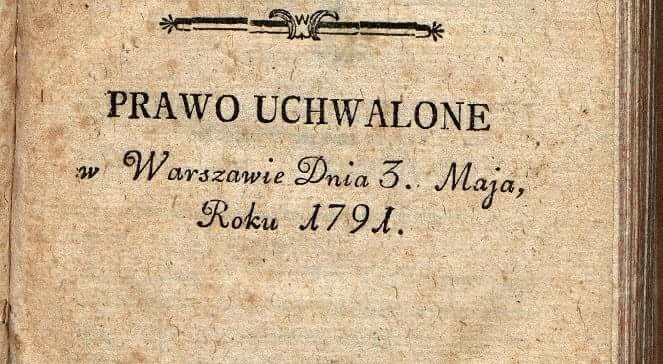 Strona tytułowa Konstytucji 3 maja.