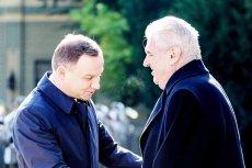 """Prezydent Czech Miloš Zeman ma dobre stosunki z ekipą """"dobrej zmiany"""" w Polsce, ale stosunki czesko-niemieckie zdają się dla niego dużo ważniejsze."""