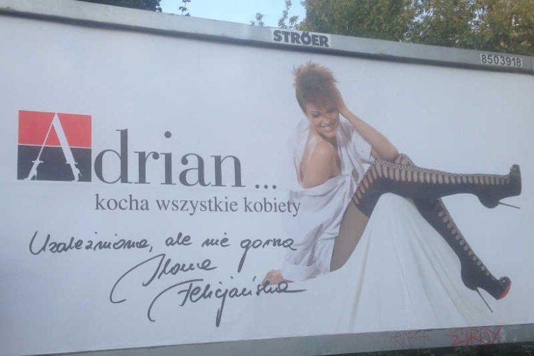 Ilona Felicjańska wystąpiła w kampanii znanej z kontrowersyjnych reklam marki rajstop Adrian.
