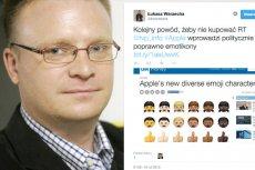 Łukasz Warzecha nie przepada za firmą Apple i jej emotikonami
