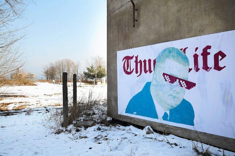 Bartłomiej Misiewicz też doczekał się muralu.