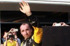 Robert Kubica podczas testów bolidu Renault na węgierskim Hungaroringu.
