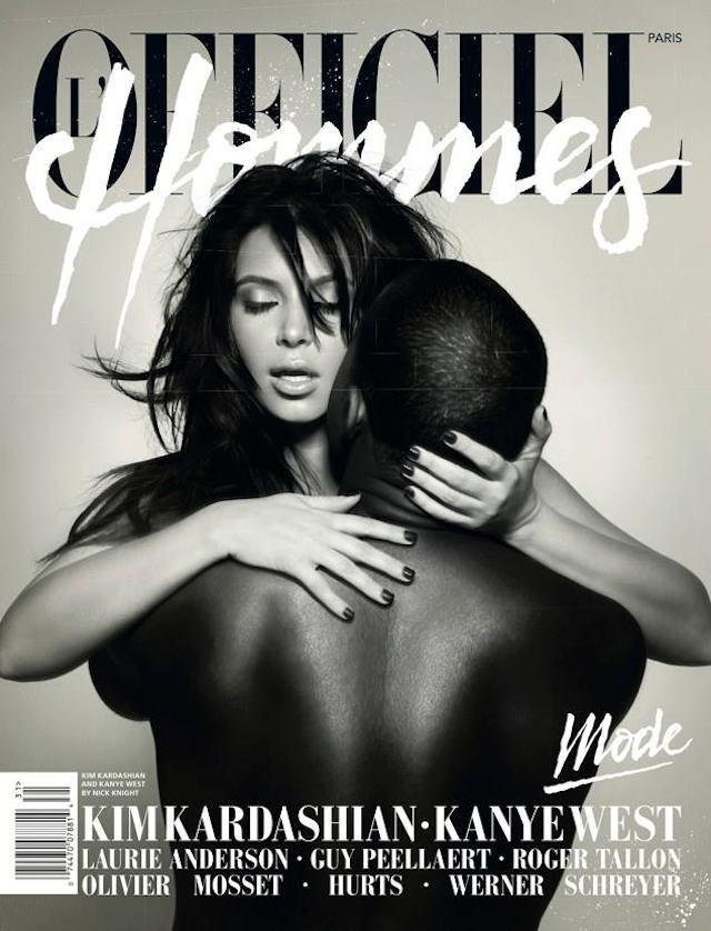 Kim Kardashian i Kayne West na okładce  L'Officiel Mode. Gdyby nie raper, Kim nigdy nie miałby prawa pojawić się na tego typu okładkach.