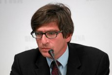 Krzysztof Skowroński, prezes SDP poprowadził konferencję, na której PiS przedstawił swojego kandydata na technicznego premiera.