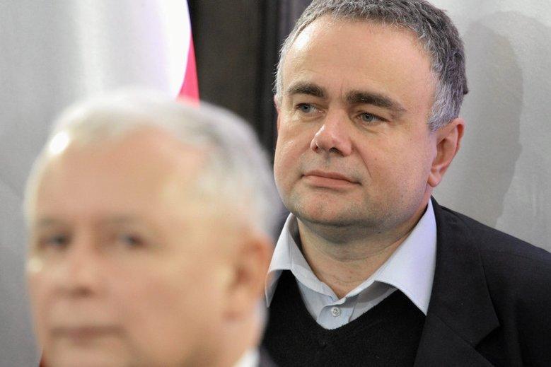 """Od lewej: Jarosław Kaczyński (PiS) i Tomasz Sakiewicz (""""Gazeta  Polska"""")."""