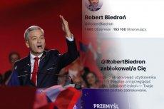 Lider partii Wiosna Robert Biedroń masowo blokuje krytyków na Twitterze.