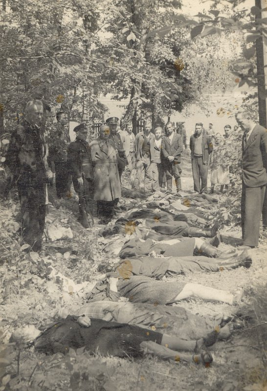 Ofiary napadu na pociąg pod Zatylem (ok. Lubyczy Królewskiej) dokonanego 16 czerwca 1944 r. przez UPA .