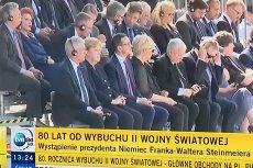 Jarosław Kaczyński znalazł się w pierwszym rzędzie na pl. Piłsudskiego podczas obchodów 80. rocznicy wybuchu drugiej wojny światowej.