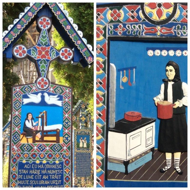 Wesoły Cmentarz w Sapancie, Rumunia - malunki nagrobkowe