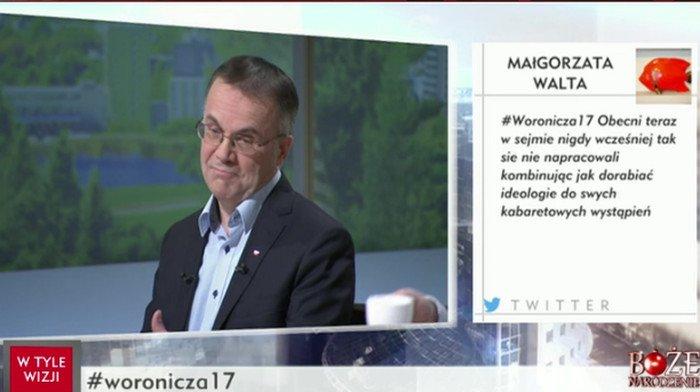 """W programie """"Woronicza 17"""" w TVP Info prostym pytaniem posłanka Nowoczesnej wprawiła ministra Sellina w zakłopotanie"""