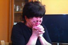 Matka zmarłej nie kryła łez w trakcie nagrania.