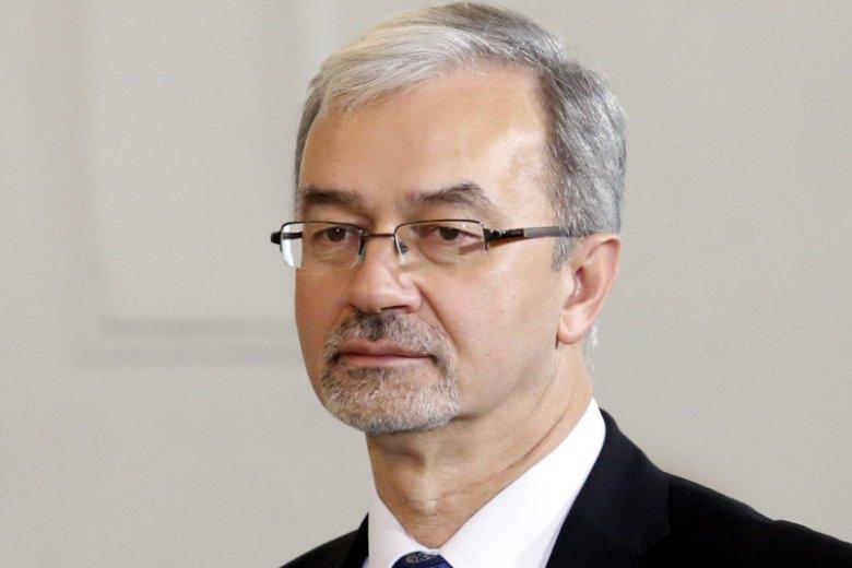 Minister Inwestycji i Rozwoju Jerzy Kwieciński podczas uroczystości rekonstrukcji rzadu