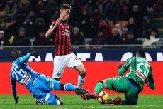 AC Milan wykluczony z Ligi Europy. W barwach klubu z Mediolanu gra Krzysztof Piątek.