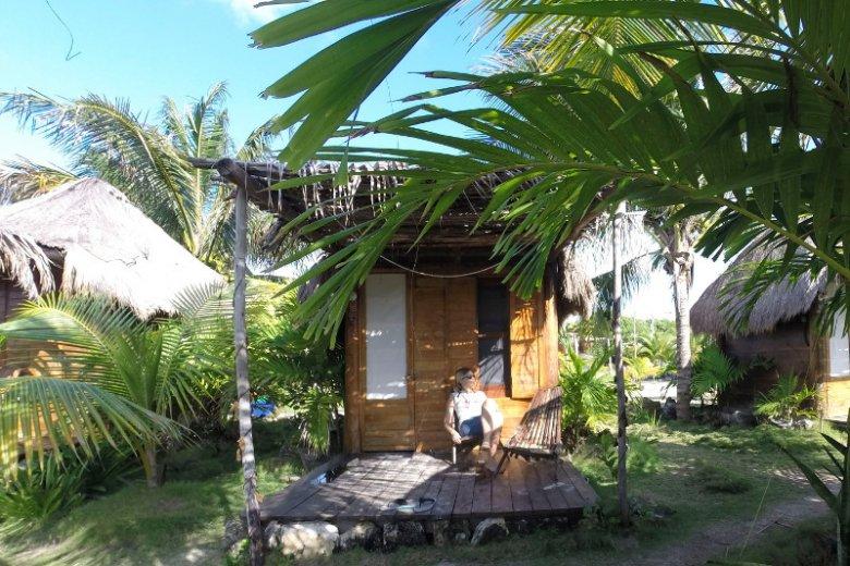 Czasami luksusowy apartament, a czasami chatka na plaży. Magda w Mahahual w Meksyku.