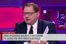 Ryszard Kalisz nie mógł pohamować emocji na antenie Polsat News. Chodziło o jego żonę.