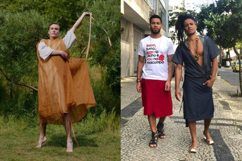 Sukienka i spódnica mają szanse skraść serca facetów. Ważne, żeby nie były to kopie damskiej odzieży, a męskie formy