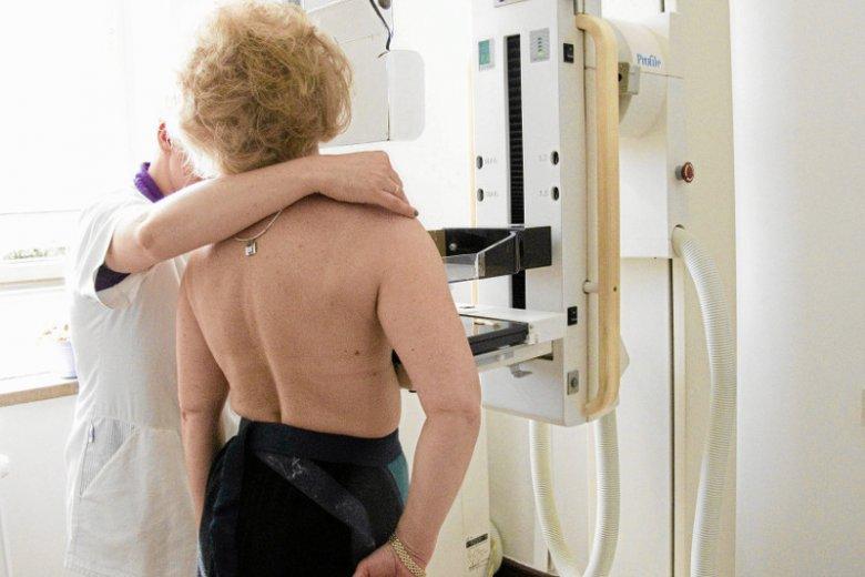 Badanie mammograficzne.