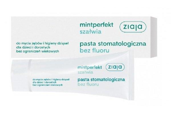 Tania i dobra pasta bez fluoru to również szałwiowa pasta Ziaja. Kosztuje ok. 5 zł