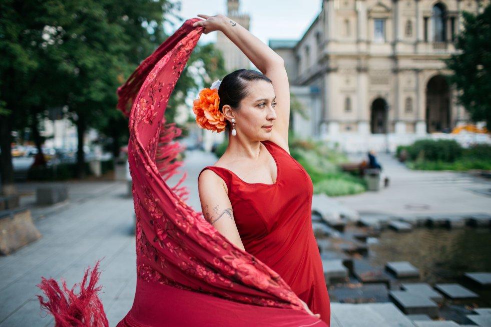 Kasia Kubicka uczy flamenco od 9 lat, tańczyć zaczęła w 2002 roku.