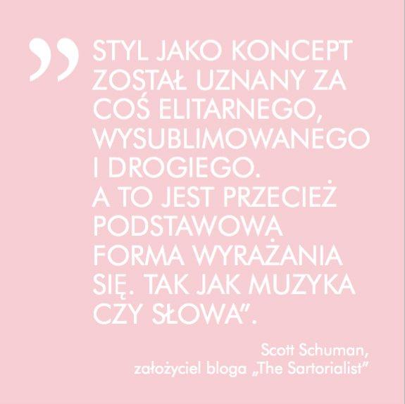"""W książce Antoniny Sameckiej """"Modoterapia, czyli po co ci tyle ubrań"""" pojawiają się cytaty znanych osób dotyczące mody"""