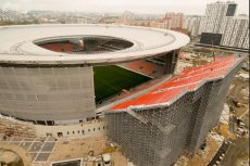 Ten rosyjski stadion przygotowywany jest na mundial. Przebudowa pochłonie kilkanaście miliardów rubli. Tymczasem 12 tys. kibiców obejrzy mecz z  tymczasowych trybun.