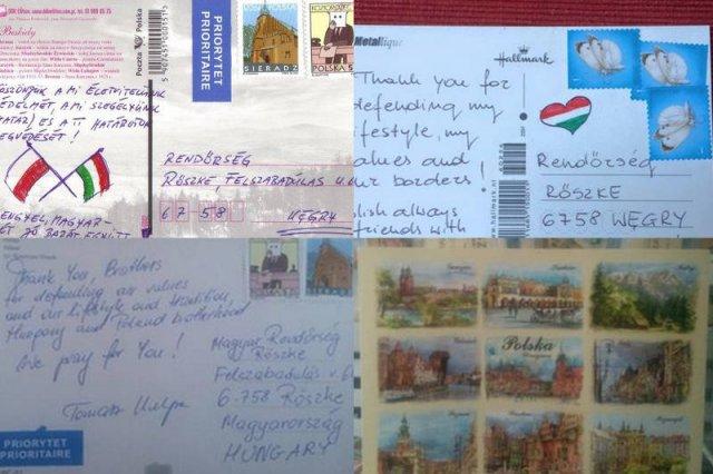 Polacy wysyłają pocztówki do węgierskiej policji.