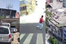 Nagrania przedstawiające trzęsienie ziemi w Meksyku są przerażające.