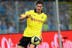 Robert Lewandowski - jeszcze w barwach Borussii Dortmund. Wiele wskazuje na to, że już niedługo może grać w innej koszulce.