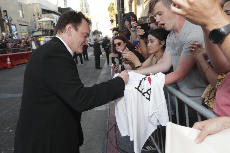 Quentin Tarantino jest prawdziwą gwiazdą i idolem wielu kinomanów