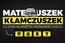 """PSL na Twitterze uruchomiło """"Licznik kłamstw Morawieckiego"""". Na starcie naliczył on już 87 pozycji o początku kampanii samorządowej."""