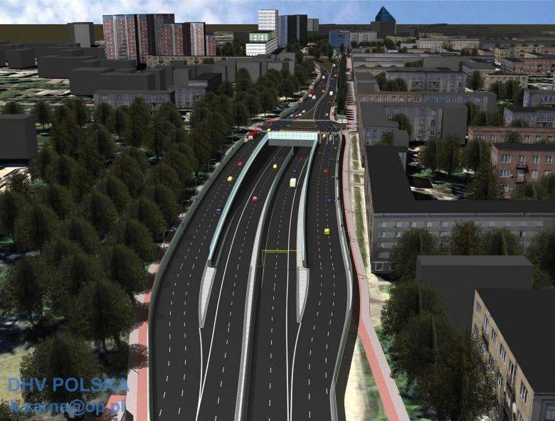 Nie ma pieniędzy na autostradę w centrum miasta? Nie budujmy autostrady, tylko zwykłą miejską ulicę...