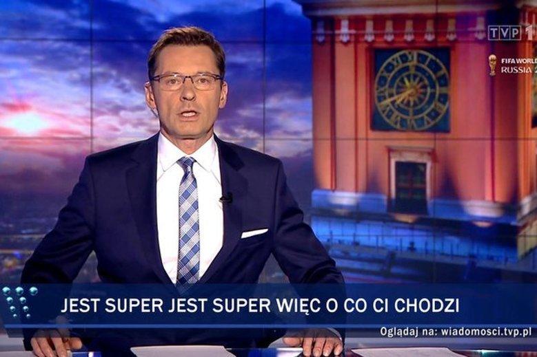 """Dzięki stronie paski-tvp.pl każdy mógł stworzyć pasek taki, jak w """"Wiadomościach"""". Teraz strona już nie działa."""