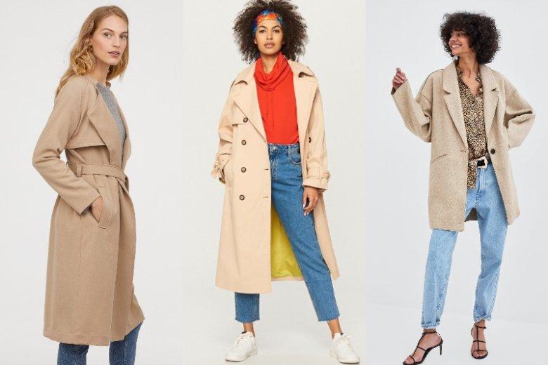 Beżowy płaszcz to klasyk, który powinien znaleźć się w szafie każdej kobiety. Ceny: 199zł, 149 zł, 109 zł